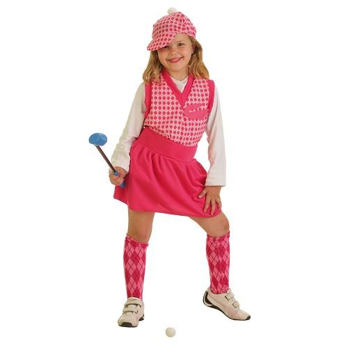 Fantasia infantil de jogador de golfe