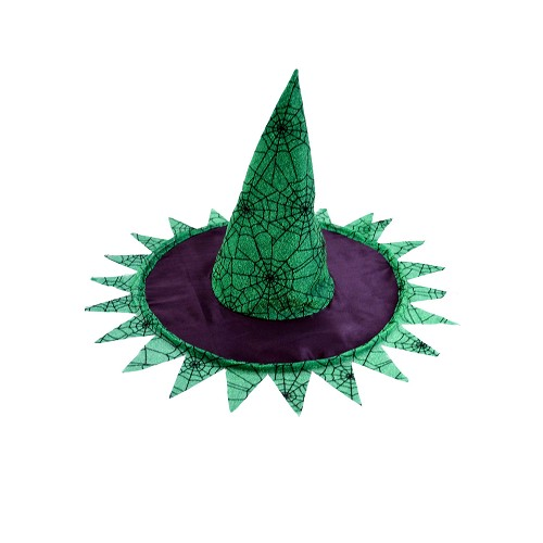 Chapéu preto / bruxa verde H0156