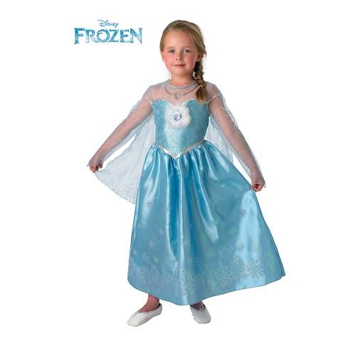 Elsa fantasia de criança de luxe