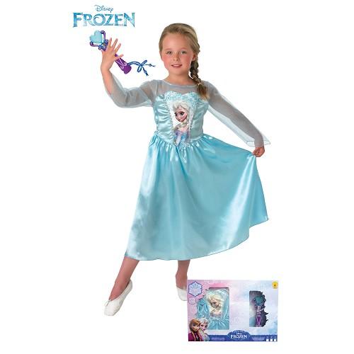 Costume clássico Elsa + Micro Em Segurança Infantil