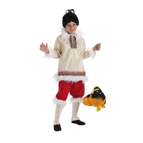 Criança de costume criança esquimó