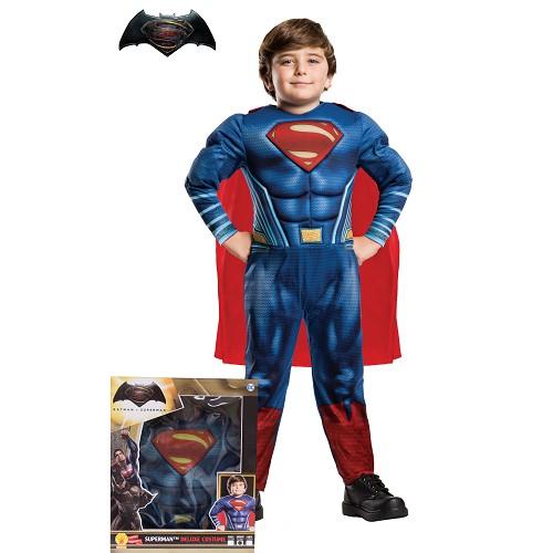 Superman traje DOJ Muscular Segurança Infantil