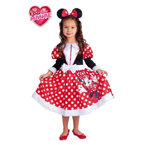 Minnie Mouse traje vermelho das crianças do inverno