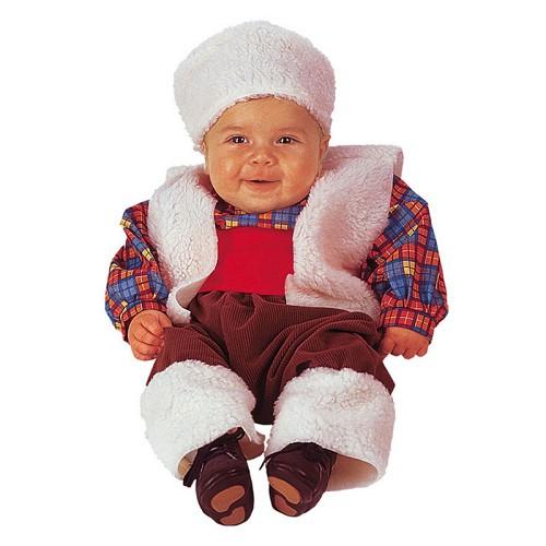 Pastor traje do bebê (0-12 meses)