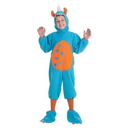 Fantasia de criança monstro azul