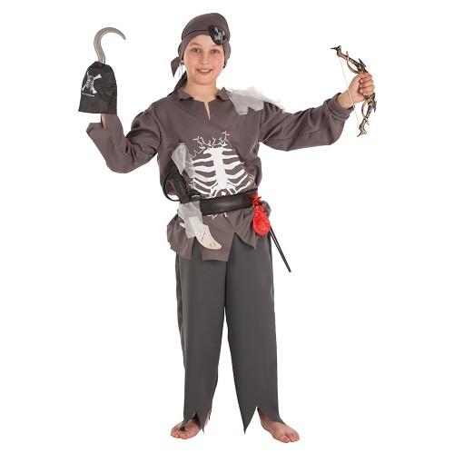 Fantasia de criança skelet infantil pirata