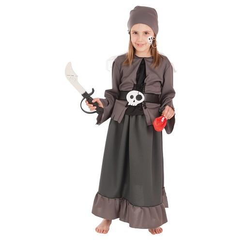 Menina de es fantasia infantil pirata