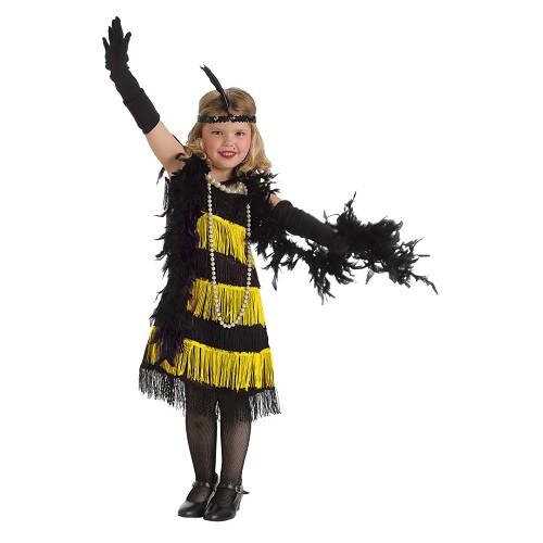 Disfraz Charleston Oro con Boa Infantil