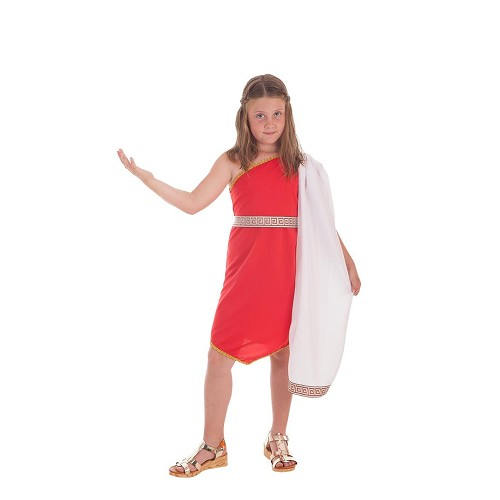 Disfraz Romana Picos Rojo Infantil