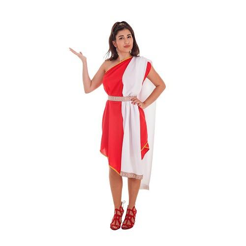 Disfraz Romana Pico Rojo Adulto