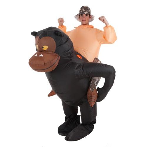 Traje gorila inflável e aventureiro