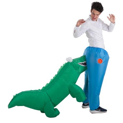 Inflável traje Dino Muerde ass