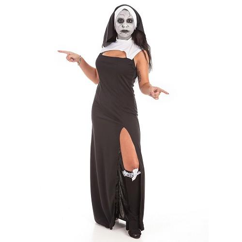 Disfraz Vestido Monja + Set Maquillaje