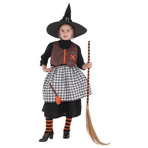 Vassoura de bruxa de fantasias infantis