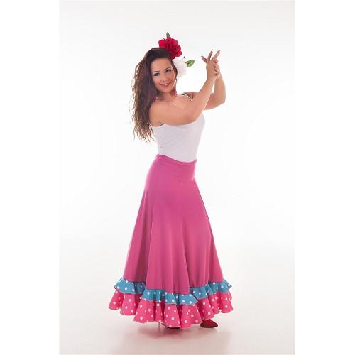 Falda Sevillana Fuxia Baile