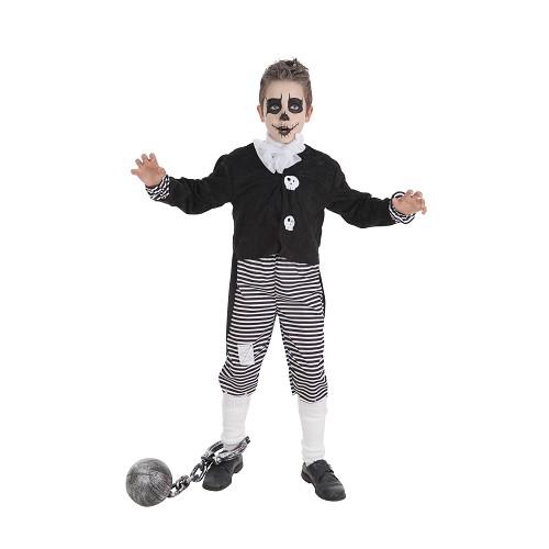 Fantasia infantil de menino skelet