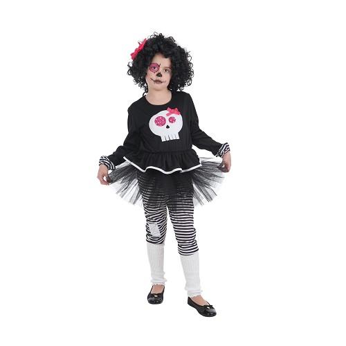 Criança costume Skeleta