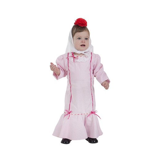 Disfraz Chulapa Rosa Bebe (0 a 12 meses )