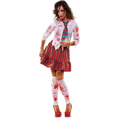 Disfraz Colegiala Zombie Adulto