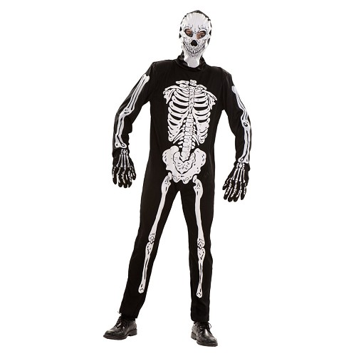 Disfraz Esqueleto Capucha Adulto