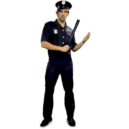 Disfraz Policia Negro Adulto