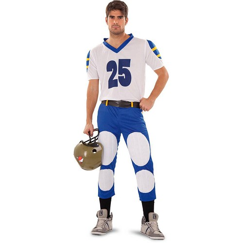 Disfraz Jugador Rugby Blue Cannons Adulto