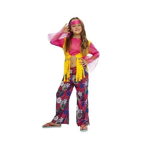 Disfraz Hippie Flecos Amarillos Infantil