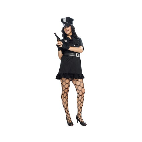 Disfraz Policia Negro Mujer Adulto