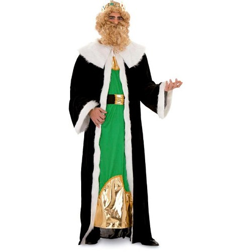 Disfraz Rey Gaspar Negro Y Verde Adulto