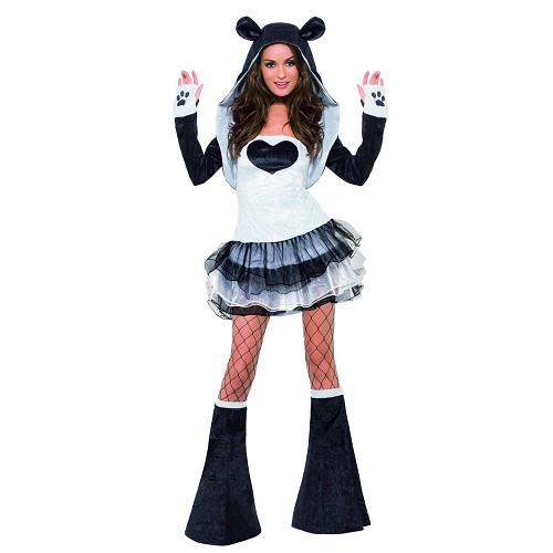 Disfraz Panda Vestido Tutú Adulto T-M(40-42)