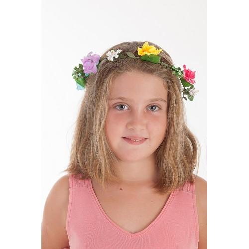 Diadema -Corona Flores Lazo Verde