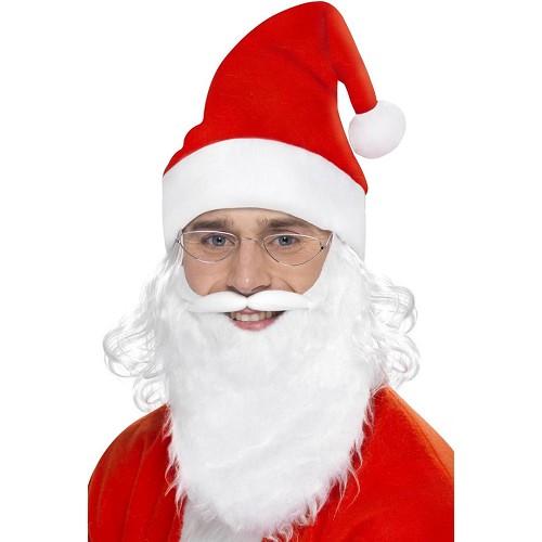 Gorro Papá Noel con Pelo, Barba y Gafas