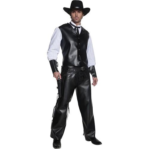 Disfraz Auténtico Pistolero Piel Negra Lux Adulto