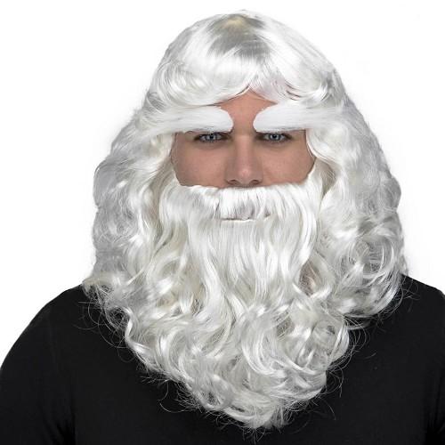 Peluca Papá Noel Lux