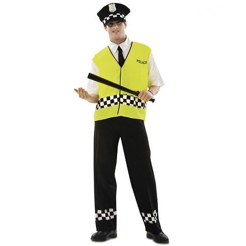 Disfraz Policía Con Chaleco Adulto