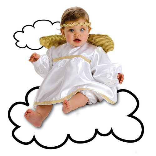 Fantasia anjo baby (0-12 meses)