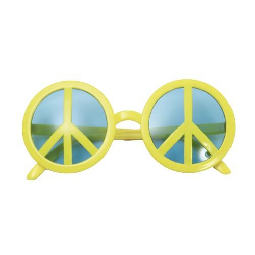 Gafas Simbolo De La Paz Amarillas