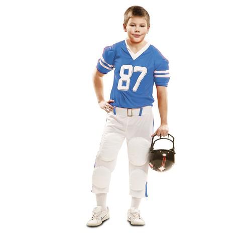 Disfraz Jugador Rugby Azul Niño