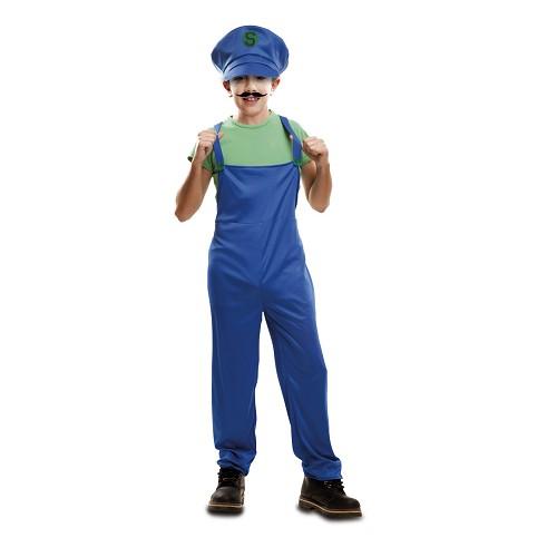 Disfraz Súper Plumber Verde Infantil