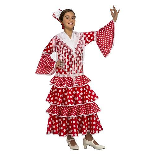 Disfraz Flamenca Sevilla Rojo Niña