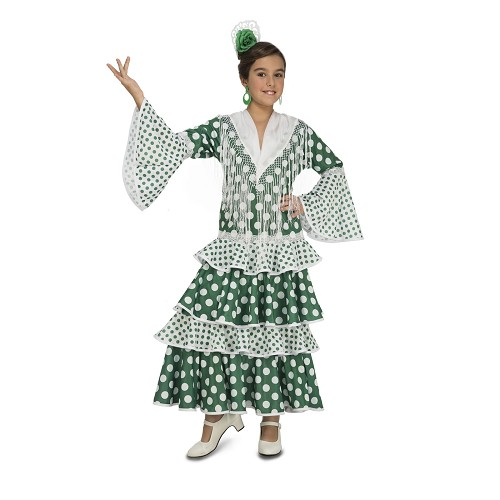 Disfraz Flamenca Feria Verde Niña