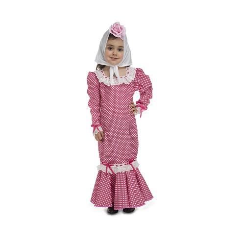 Disfraz Chulapa Madrileña Rosa Bebé