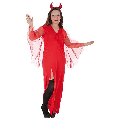 Fantasia adulto Demonia vermelho