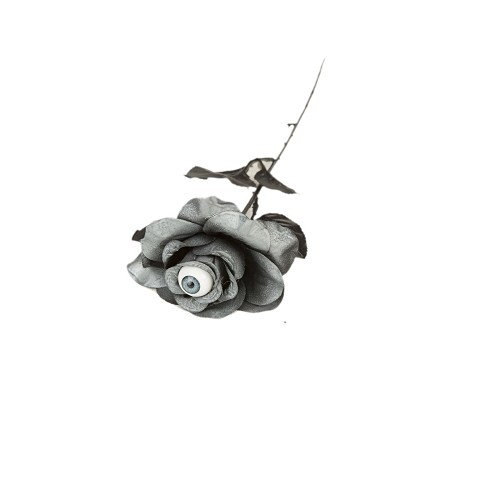 Rosa Gris Con Ojo 8 X 8 X 40 Cm