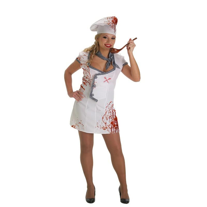 Fantasia adulto de chef zombie