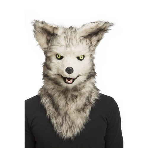 Máscara Con Mandíbula Móvil Lobo Adulto