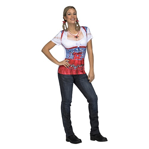 Sexy Red Oktoberfest Lady Adulto