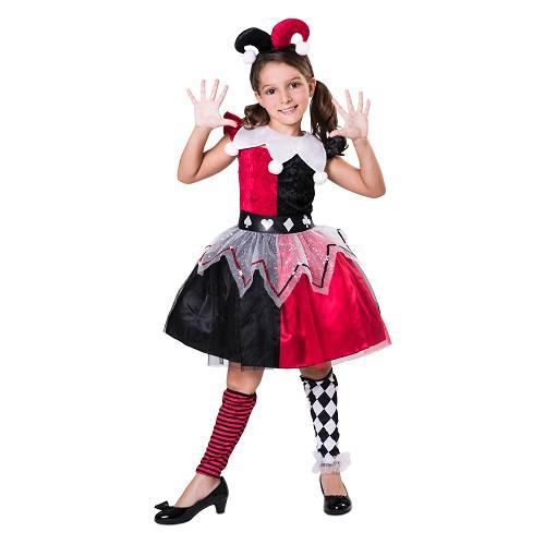 Disfraz Arlequina Roja Infantil