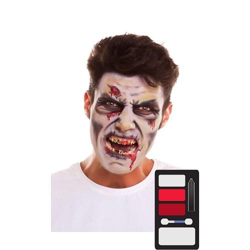 Kit Maquillaje Adulto Zombi 24 X 20 Cm