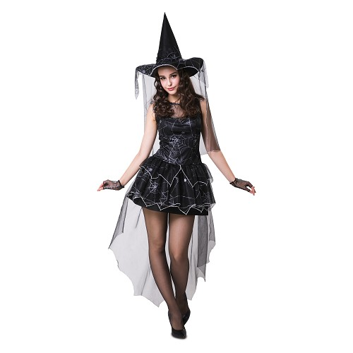Disfraz Bruja Araña Negra Mujer